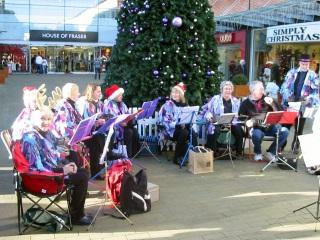Busking in Maidstone, December 2008